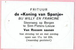 Sticker - FRITUUR De Koning Van Spanje Bij Willy En Francine - Stwg Op Bergen Sint-Pieters-Leeuw - Van Rossem Sausen - Autocollants