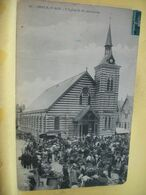 62 1528 CPA 1904 - BERCK PLAGE. L' EGLISE N. D. DES SABLES - ANIMATION. JOUR DE MARCHE - Berck