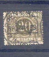 B 516  Belgie Strafport Gestempeld TX14A Afstempeling Voorafgestempeld Brussel 1919 - Timbres