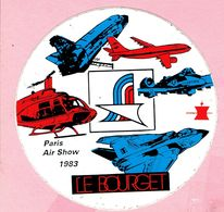 Sticker - Paris Air Show 1983 - LE BOURGET - Autocollants