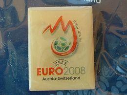Pin's FOOTBALL - EURO 2008 - LOGO - NEUF SOUS BLISTER - Fútbol