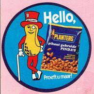 Sticker - MR.PEANUT - Hello,PLANTERS Pikant Gekruide PINDA'S - Autocollants