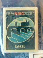 Pin's FOOTBALL - EURO 2008 - BASEL - NEUF SOUS BLISTER - Fútbol