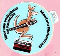 Sticker - Motorcraft - Voor Uw Veiligheid En Komfort Monteer Motorcraft - Kangeroe - Autocollants