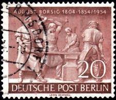 GERMAN Berlin - Scott #9N112 Death Of August Borsig, 100th Anniv. (*) / Used Stamp - Oblitérés