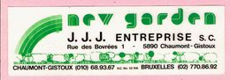 Sticker - Nrv Garden - J.J.J. Entreprise S.c. - Rue Des Bovrées Chaumont Gistoux - Bruxelles - Autocollants