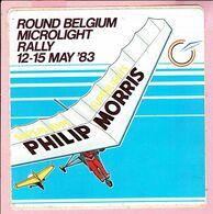 Sticker - ROUND BELGIUM MICROLIGHT RALLY 1983 - PHILIP MORRIS - Autocollants