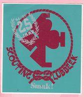 Sticker - 1964 - 1989 - 25 Jaar SCOUTING LUBBEEK - Smak! - Autocollants