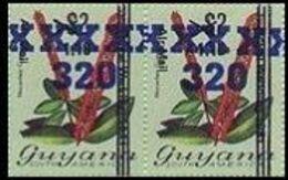 GUYANA 1983 Flowers Diana Wedding OVPT.320/1.10/$2 Narantea Guianensis PAIR - Guyana (1966-...)