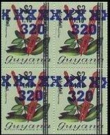 GUYANA 1983 Flowers Diana Wedding OVPT.320/1.10/$2 Narantea Guianensis 4-BLOCK - Guyana (1966-...)
