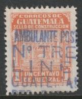 Guatemala 1945 Sc RA22  Postal Tax Used Train RPO Cancel - Guatemala