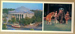 Postcard. Belarus USSR. Minsk. Circus. Cirque. Zirkus. Circo. 1979. Tiger. Elephant - Châteaux D'eau & éoliennes