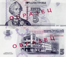 Transnistria 2007 (2012) - 5 Rublei - Pick 43b UNC SPECIMEN - Banknotes