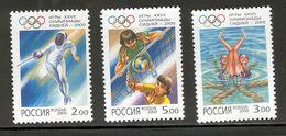 RUSSIA 2000 Summer Olympics, Sydney; Scott Catalogue No(s). 6599-6601 MNH - Verano 2000: Sydney