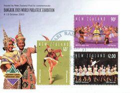 New Zealand 2003 Bangkok Exhibition M/S USED - Blocks & Sheetlets