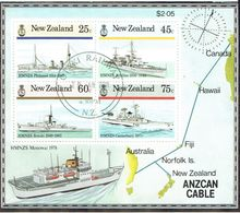 New Zealand 1985 Naval History M/S USED - Blocks & Sheetlets