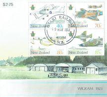 NEW ZEALAND 1987 Airforce Wigram M/S USED - Blocks & Sheetlets