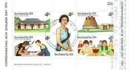 NEW ZEALAND 1974 New Zealand Day M/S USED - Blocks & Sheetlets