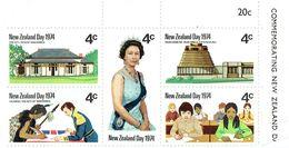NEW ZEALAND 1974 New Zealand Day M/S MINT NO GUM - Blocks & Sheetlets