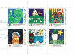 New Zealand 2006 Christmas 45c Sheetlet USED ACS# C216 - Blocks & Sheetlets