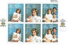 New Zealand 1985 Health M/S USED - Blocks & Sheetlets