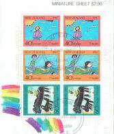 New Zealand 1987 Health M/S USED - Blocks & Sheetlets