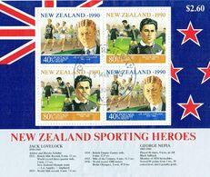 New Zealand 1990 Health M/S USED - Blocks & Sheetlets