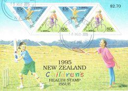 New Zealand 1995 Health M/S USED - Blocks & Sheetlets