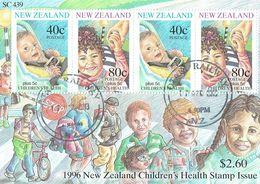 New Zealand 1996 Health M/S USED - Blocks & Sheetlets