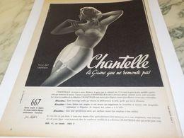 ANCIENNE   PUBLICITE LA GAINES QUI NE REMONTE PAS  DE CHANTELLE  1958 - Other