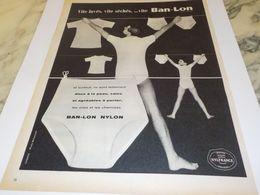 ANCIENNE  PUBLICITE VITE LAVES VITE SECHES VITE  BAN LON 1958 - Other