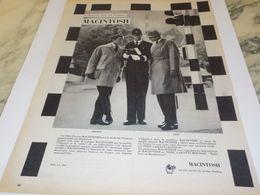 ANCIENNE  PUBLICITE ELEGANCE TRADITION MACINTOSH SOCIETE DUNLOP 1958 - Other