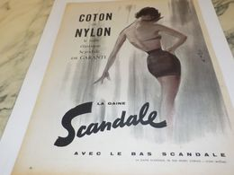 ANCIENNE PUBLICITE COTON NYLON SCANDALE  1958 - Other