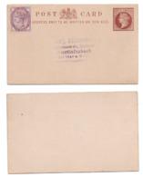 Großbritannien Ganzsache Nach Idar Mit Victoria MiNr. 65 Ungestempelt; Postal Stationery GB Post Card - 1840-1901 (Victoria)