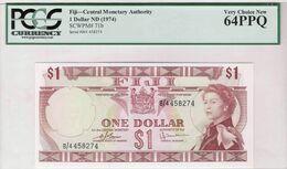 Fiji ND (1974) - 1 Dollar - Pick 71b UNC PCGS64PPQ Very Choice NEW - Fiji