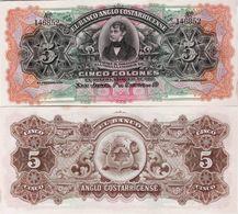 Costa Rica 1917 - 5 Colones - Pick S122R UNC - Costa Rica