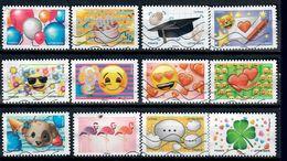 YT AA 1558-9 A 1569 Serie Complete Emoji - Luchtpost