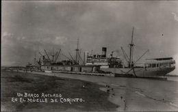 !  Alte Fotokarte, El Muelle De Corinto, Dampfer, Ship, Nicaragua, Photo - Commercio