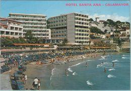 CPM:  ESPAGNE:  HOTEL SANTA ANA En 1988:  Et La Plage De CALAMAYOR.    (G180) - Hotels & Gaststätten