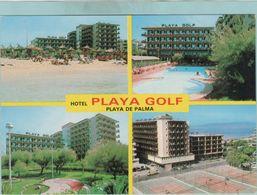 CPM:  ESPAGNE:  HOTEL  PLAYA GOLF  -  MALLORCA     (multivues)    (G182) - Hotels & Gaststätten