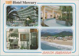 CPM:  ESPAGNE:  HOTEL  MERCURY  -  SANTA  SUSANNA     (multivues)    (G183) - Hotels & Gaststätten