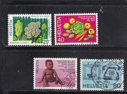 Schweiz, Nr. 1069/72, Gest. (T 17801) - Usati