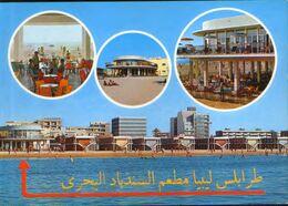 Libya -   Postcard Unused  -  Tripoli - Sindbad El Bahry Restaurant - Libyen