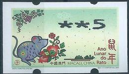 MACAU 2020 ZODIAC YEAR OF THE RAT ATM LABEL NAGLER 50 AVOS - 1999-... Regione Amministrativa Speciale Della Cina
