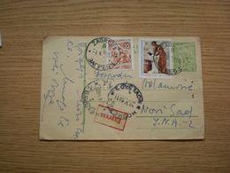Dopisnica FNR Jugoslavija Nedelja Crvenog Krsta Red Cross Stamps Zagreb To Novi Sad Express - 1945-1992 République Fédérative Populaire De Yougoslavie