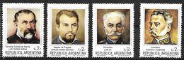 Argentina - MNH 1980 :    4 Polar Voyagers - Polar Exploradores Y Celebridades