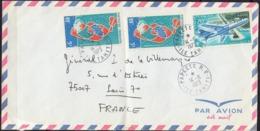 TAHITI  Enveloppe  Pour Le Général P. De La VILLEMARQUE  Postée Le 14 6 1973 Avec 3 Timbres Dont POSTE AERIENNE 20F - Poste Aérienne