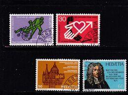 Schweiz, Nr. 1062/66, Gest. (T 17811) - Usati