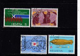 Schweiz, Nr. 1058/61, Gest. (T 17812) - Usati
