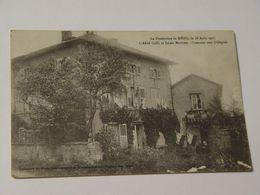 MAYENNE-LE PRESBYTERE DE MENIL LE 28 AOUT 1917L'AZBBE COLLE ET LOUIS MATHIEU HONNEUR AUX DELEGUES-ANIMEE - Autres Communes